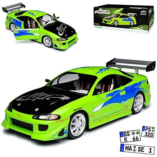 Greenlight Mitsubishi Eclipse Coupe Grün The Fast and The Furious 3. Generation 1995-2000 1/18 Modell Auto