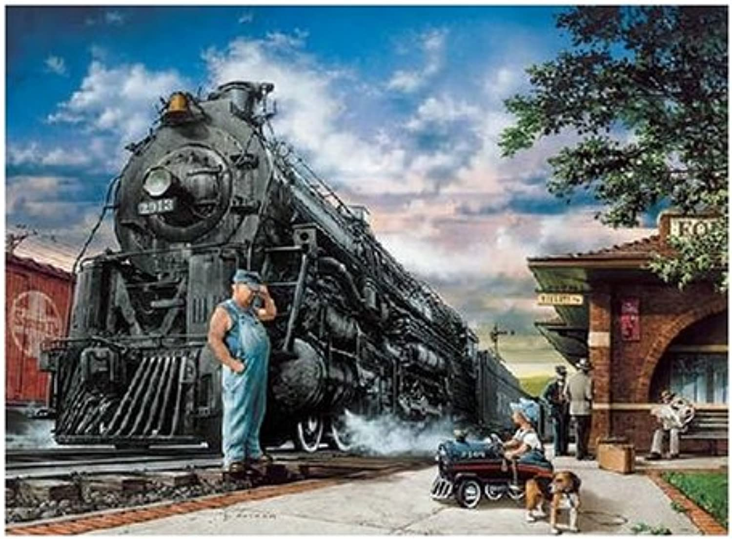 Master Pieces Whistle Stop 1000 Piece Jigsaw Puzzle
