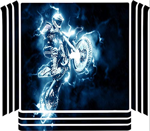 Dirt Bike Dirtbike Electric Lightning Jump Vinyl Decal Sticker Skin by Moonlight4225 for Playstation 4 (PRO) PS4 Pro Console