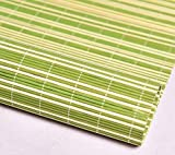 LLPEIJIE026 Bambus-Rollo Home grün und weiß,Faltrollo Rollo,Bambus Raffrollo,Sichtschutz Rollo mit Lifter,Atmungsaktiv,für Fenster,Wohnzimmer,Pavillon,Teestube,Esszimmer (90x200cm/36Xx79in)