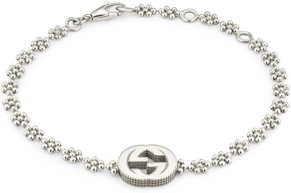 Bracciale interlocking gucci per donna,in argento 925 YBA481687001