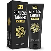 M3 Naturals 5-Ounce Sunless Tanner Infused with Aloe Vera and Shea Butter
