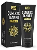 M3 Naturals Sunless Tanner Infused with Aloe Vera and Shea Butter a Natural Looking Suneless Tanning Lotion, Long Lasting, Self-Tanner, Bronzing Mousse, Fake Tan, Men and Women 5 Ounce
