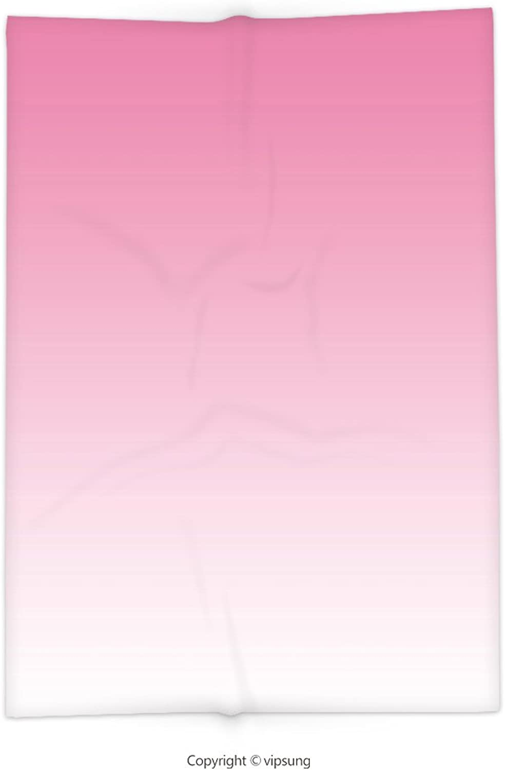 Vipsung Throw Blanket with Ombre Dreamy Light Pink Waterfall Inspired Modern Digital Print Girls Room Decorations Light Pink Super Soft and Cozy Fleece Blanket