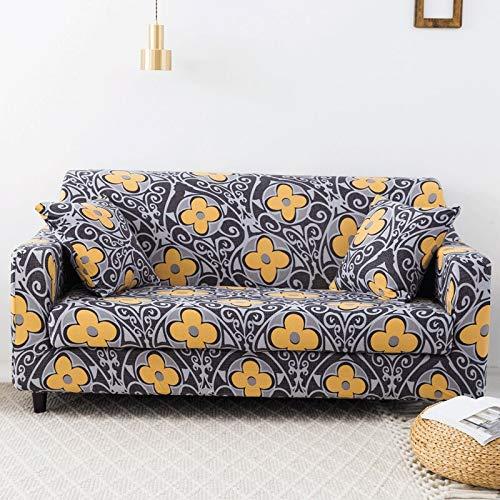 ASCV Fundas de sofá con Estampado Floral para Sala de Estar Funda elástica elástica Fundas de sofá de Esquina seccionales A9 2 plazas