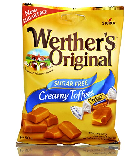 Werther's Original Cramy Toffee zuckerfrei sugar free (6 Packungen)