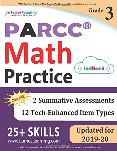 PARCC Test Prep: 3rd Grade Math Practice Workbook and Full-length...