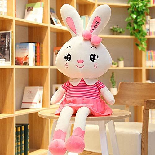 N / A Big Cute Love Kaninchen Plüschtier Gefüllte Weiche Kaninchenpuppe Baby Kinderspielzeug Tierspielzeug Geburtstag Weihnachten Liebhaber 55cm