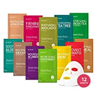 Sheet mask by Glam Up Facial Sheet Mask BTS 12Combo-The Ultimate Supreme Collection for Every Skin C...