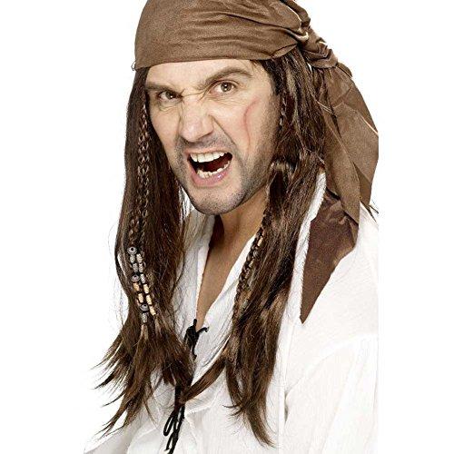 Fancy Jurk Partij Buccaneer Caribische Piraat Pruik Dames Hoofddeksels Met Bandana