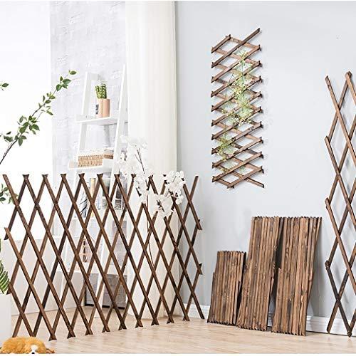 Rankgitter // Pflanze Klettergerüst/Holz Wand Trellis/Expanding Holzzaun/Gitter Dekoration/Trellis-Blumen-Dekoration Ständer (Size : H120cm)