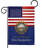 """Americana Home & Garden US New Hampshire Garden Flag Regional States American Territories Republic Country Particular Area House Decoration Banner Small Yard Gift Double-Sided, 13""""x 18.5"""", Made In USA"""