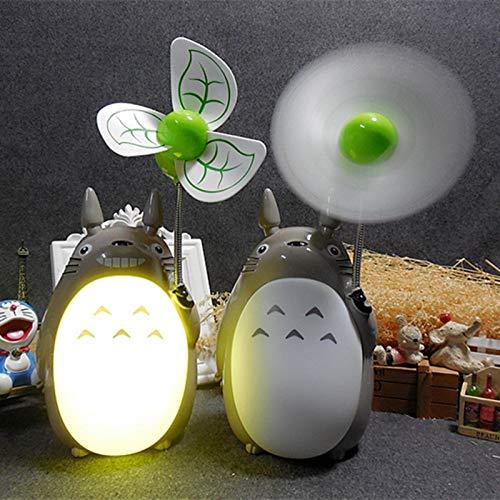 Luz Nocturna 1pc Cartoon Totoro Fan Lamp Led Night Light Color Aleatorio