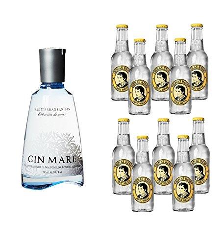 Gin Mare (1 x 0.7 l) mit Thomas Henry Tonic Water (10 x 0.2 l)