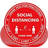 20 Pack 10' Social Distancing Floor Decals Stickers Water Proof Maintain 6 FFET Distance Safety Social...
