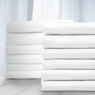 BALICHUN Premium Pillowcase 12 Pack - King White - 1800 Thread Count - Soft Brushed Microfiber Hypoallergenic - Wrinkle Resistant - Tailoring Iron - Bulk Pillowcases Set of 12,1 Dozen