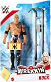 HP UK WWE WREKKIN - The Rock - Figura de acción completa con accesorio de naufragio, aproximadamente 6 pulgadas