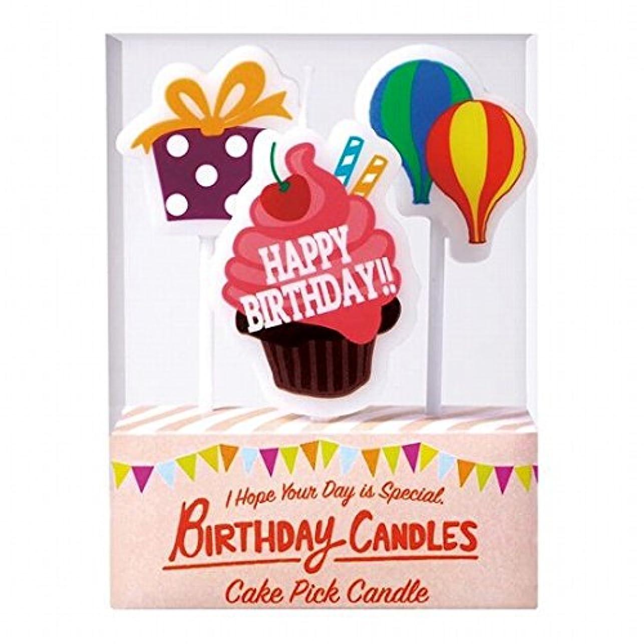 誤解を招く一時的生じるカメヤマキャンドル(kameyama candle) ケーキピックキャンドル 「 バースデー 」