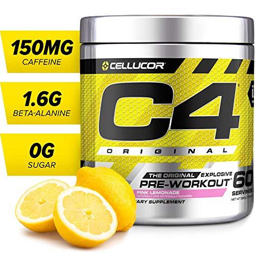 C4 Original Pre Workout Powder Pink Lemonade | Sugar Free Preworkout Energy Supplement for Men & Women | 150mg Caffeine + Beta Alanine + Creatine | 60 Servings
