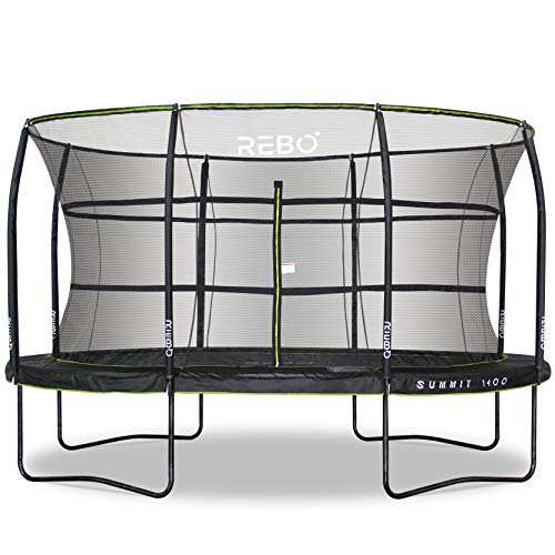 Rebo Summit Oval Trampoline and Safety Enclosure 10ft x 14ft - Summit 1400