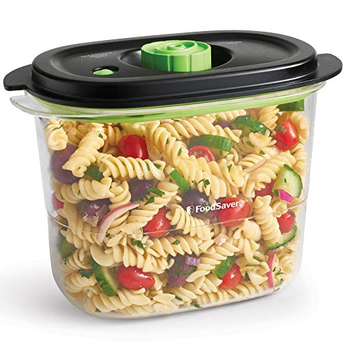 FoodSaver Recipiente de envasado al vacío de alimentos para conservar y marinar, Recipiente hermético para alimentos sin BPA, A prueba de fugas, Apto para lavavajillas, 1.8 L