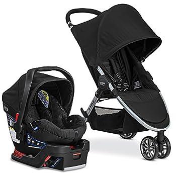 Britax 2017 B-Agile 3 Stroller & B-Safe 35 Infant Car Seat - Raven