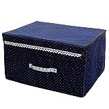 SXDHOCDZ Caja de almacenamiento plegable de tela no tejida a prueba de polvo y transpirable, apta para dormitorio, armario de 45 x 35 x 27 cm