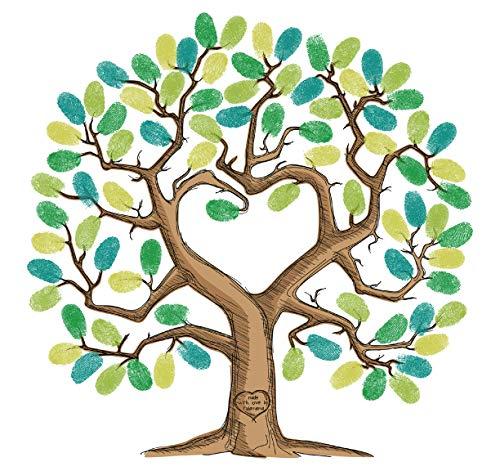 Tree fingerprint guest book