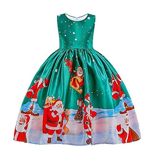 Mädchen Kleid Rock Weihnachtskleid Blume Kinder Mädchen Kleid Prinzessin Formale Festzug Urlaub...