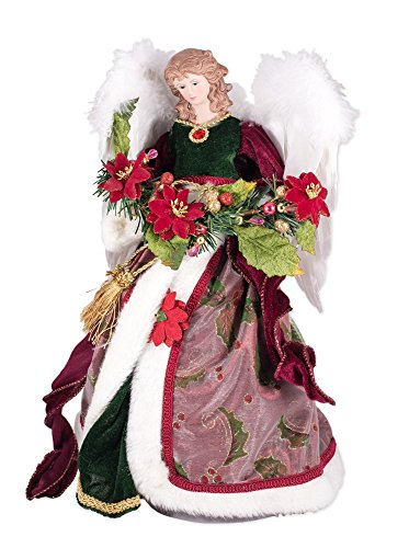 Top 10 angel tree topper red for 2021