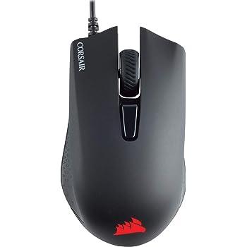 Corsair Harpoon PRO RGB, FPS/MOBA Mouse Gaming Ottico 12000 DPI Ottico Sensore, Leggera, 6 Pulsanti Programmabili, Retroilluminazione LED RGB, Nero