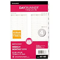 Day Runner PRO Weekly Planner詰め替え、2016 forプランナ、5.5 X 8.5インチページサイズ(481 – 485 – 16 ) by Day Runner