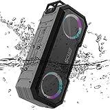Altavoz Bluetooth IPX7 resistente al agua SCIJOY con luz LED, altavoz inalámbrico, 30 W, batería de 30 h, para casa/exterior, ducha, fiesta, jardín y garaje iOS y Android