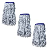 KLEEN HANDLER Nano Microbial Cut End Finish Mop | 1.25' Universal Headband, Pack...