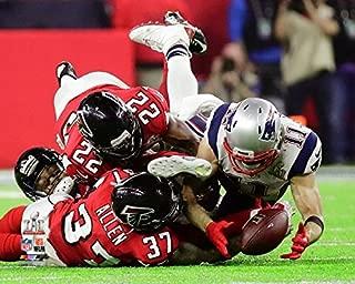 New England Patriots Julian Edelman Makes The Catch Of A Lifetime During Super Bowl LI Trophy. 8x10 Photo Picture. (Catch)