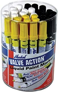 Markal - Valve Action Paint Marker (Tub of 24)