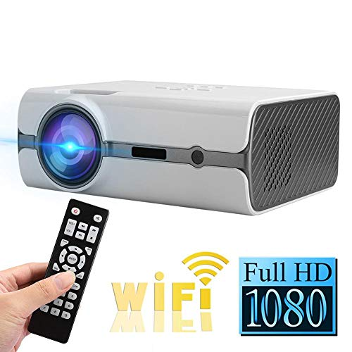 %9 OFF! Portable FHD 1080P WIFI Projector, 2200lms Multimedia Home Cinema Theater Video Projectors S...