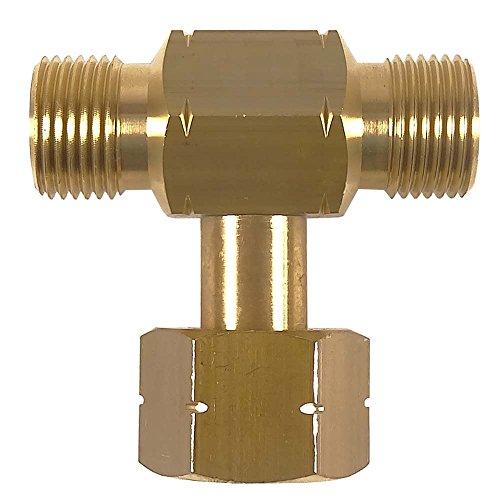 Wasserstoff Formiergas Propangas T-Stück 200 bar - von Gase Dopp