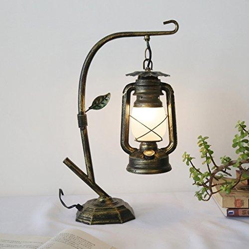 Iron Creative tafellamp Retro Cafe lantaarn Kerosene Vecchio Moda E27 * 1 tafellamp en Abat-Jour