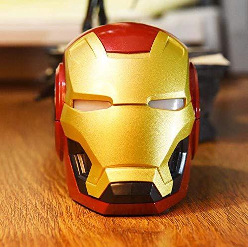 CE-LXYYD Iron Man Altavoces Bluetooth Altavoz inalámbrico portátil Sonido Superior y Doble subwoofer Potente Mejorado Graves Ricos,Gold