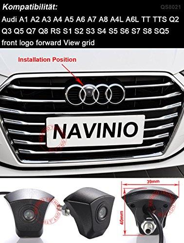 Greatek-Vorderansicht-Kamera-Rueckfahrkamera-mit-Einparkhilfe-fuer-A1-A2-A3-A4-A5-A6-A7-A8-A4L-A6L-TT-TTS-Q2-Q3-Q5-Q7-Q8-RS-S1-S2-S3-S4-S5-S6-S7-S8-SQ5-Front-Logo-Forward-View-Grid