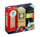 EXPLORE London, Englisch Tee Geschenk Pack - 3 x 20 Teebeutel in London ICONIC Spardose Dosen