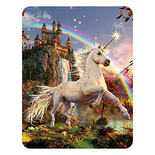 3D LiveLife Magnet - Unicorn Evening Star from Deluxebase. Lenticular 3D Unicorn Fridge Magnet. Magnetic decor for kids and adults with artwork licensed from renowned artist, David Penfound