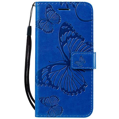 Hülle für iPhone 11 Pro Hülle Handyhülle [Standfunktion] [Kartenfach] [Magnetverschluss] Tasche Etui Schutzhülle lederhülle klapphülle für Apple iPhone 11 Pro 2019 - JEKT040059 Blau