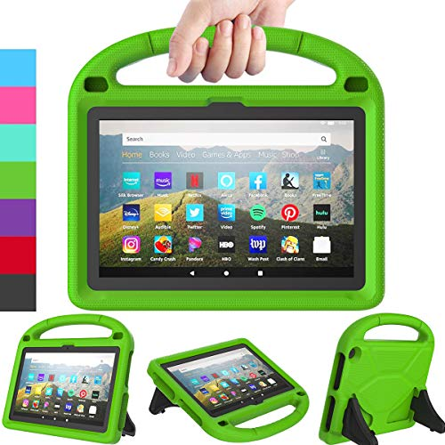 LEDNICEKER Kids Case for All-New Fire HD 8 & Plus 2020 - Lightweight Shockproof Handle with Stand Kid-Proof Case for Amazon Fire HD 8 inch Tablets (Latest 10th Generation 2020 Release)-Green