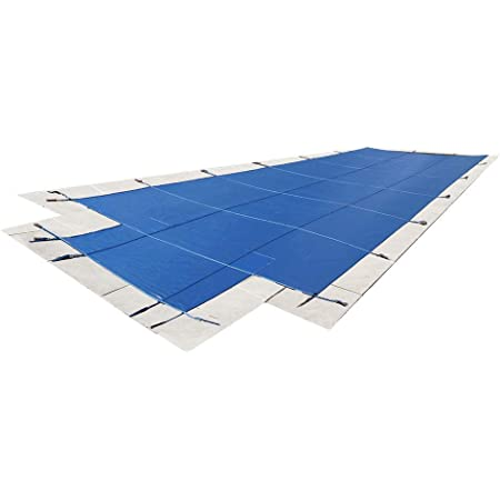 with Center Drain Panel Water Warden Made to Last Safety Pool Cover for 12 x 24 Solid Green