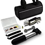GoTravel2 Mini Bike Repair Tool kit with Pump - Mini Bicycle Repair Tool kit with Pump,16 in 1 Bicycle Essential Multi Tools Set (Bike Tools)
