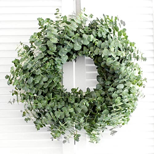 Fresh Handmade Eucalyptus Wreath - Baby Blue Eucalyptus (various sizes available) Greenery Wreath for Mother's Day Gift - Front Door - Church Door Decor - Wedding - Baby Shower - New Baby Arrival Gift