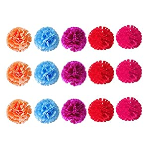 VALICLUD 20pcs Artificial Silk Carnation Fake Flower Creative Carnation Gift for Mother s Day Teachers Day (Random Color, 20pcs/ Pack)
