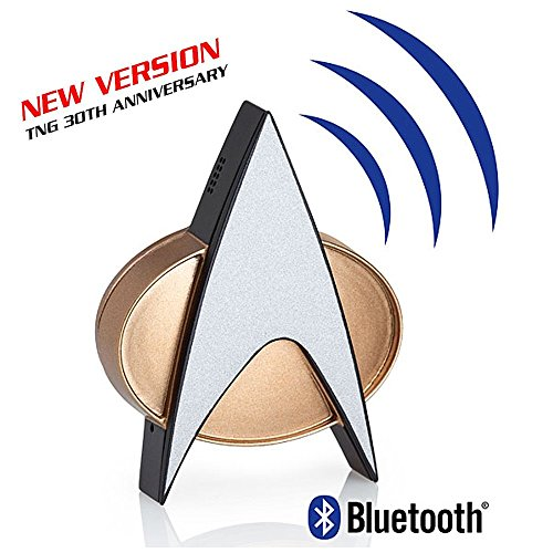 Star Trek Next Generation Bluetooth Communicator Badge - TNG Bluetooth Combadge with Chirp Sound Effects, Microphone & Speaker – Star Trek Memorabilia, Gifts, Collectibles, Gadgets & Toys for Startrek